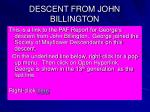 descent from john billington