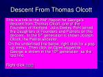 descent from thomas olcott