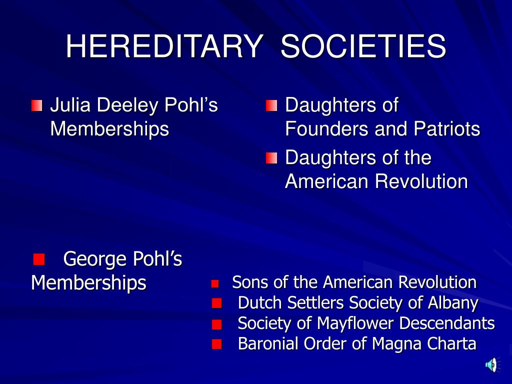 hereditary societies l.