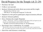 david prepares for the temple ch 21 29
