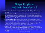 output peripherals and their functions 2