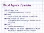 blood agents cyanides