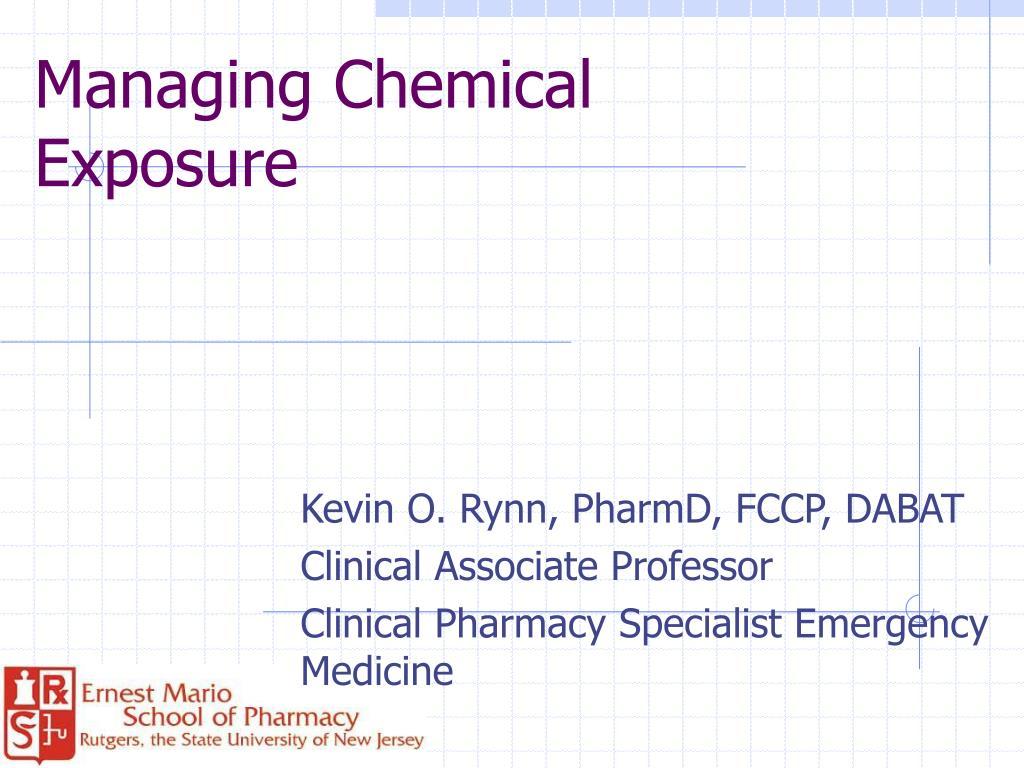 managing chemical exposure l.