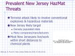 prevalent new jersey hazmat threats