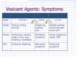vesicant agents symptoms