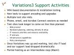 variations3 support activities