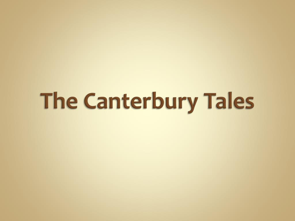 the canterbury tales l.
