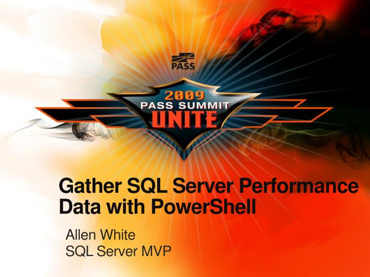 gather sql server performance data with powershell n.