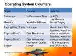 operating system counters