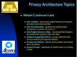 privacy architecture topics5