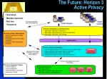 the future horizon 3 active privacy
