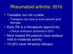 rheumatoid arthritis 2010