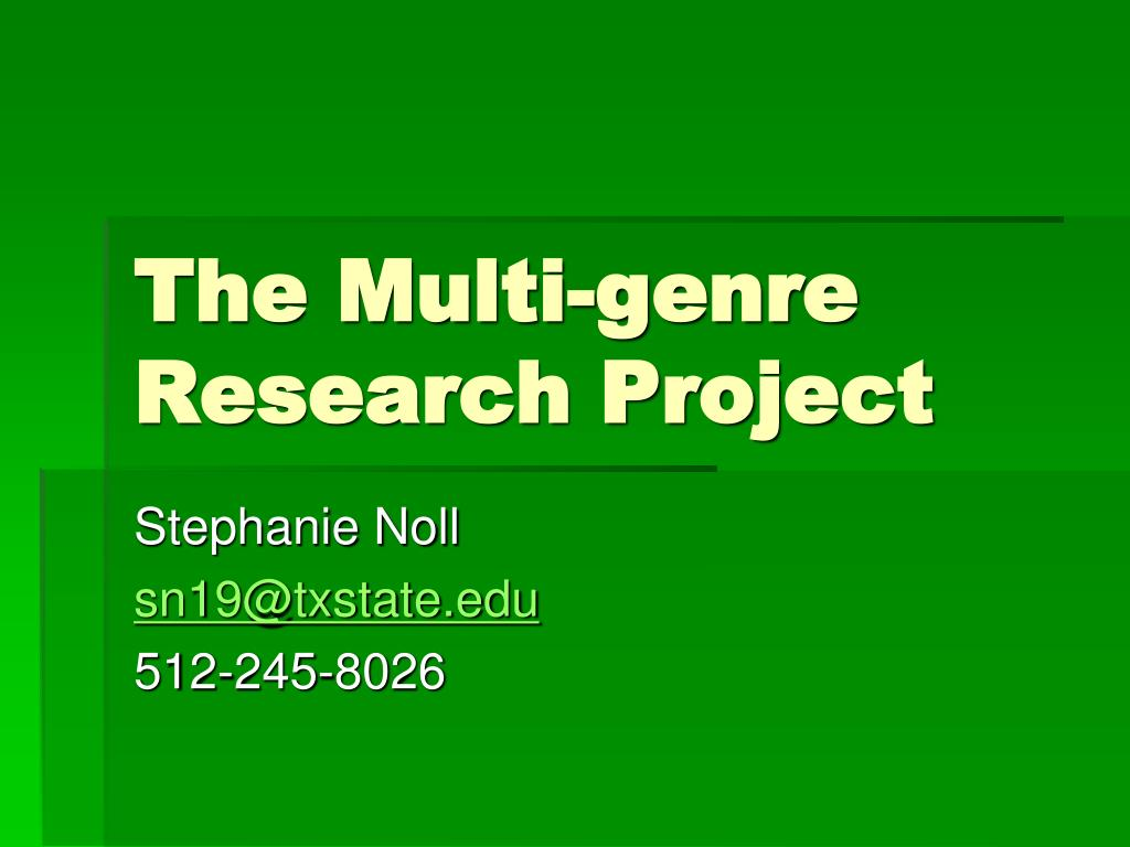 the multi genre research project l.