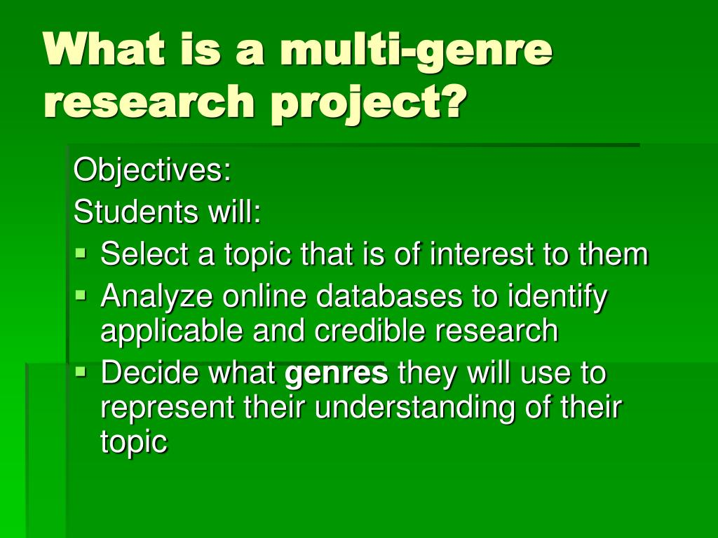 multi genre project Thoreau had views about life that were very different from other people thoreau discredited the principles that were held deeply by others, sample research paper on multi-genre project.