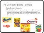 the company brand portfolio