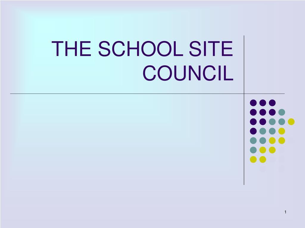 the school site council l.
