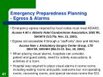emergency preparedness planning egress alarms