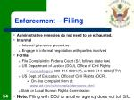 enforcement filing
