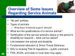 overview of some issues regarding service animals