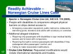 readily achievable norwegian cruise lines case
