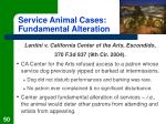 service animal cases fundamental alteration