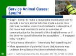 service animal cases lentini