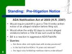standing pre litigation notice8