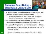 supreme court ruling norwegian cruise lines
