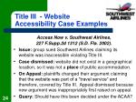 title iii website accessibility case examples