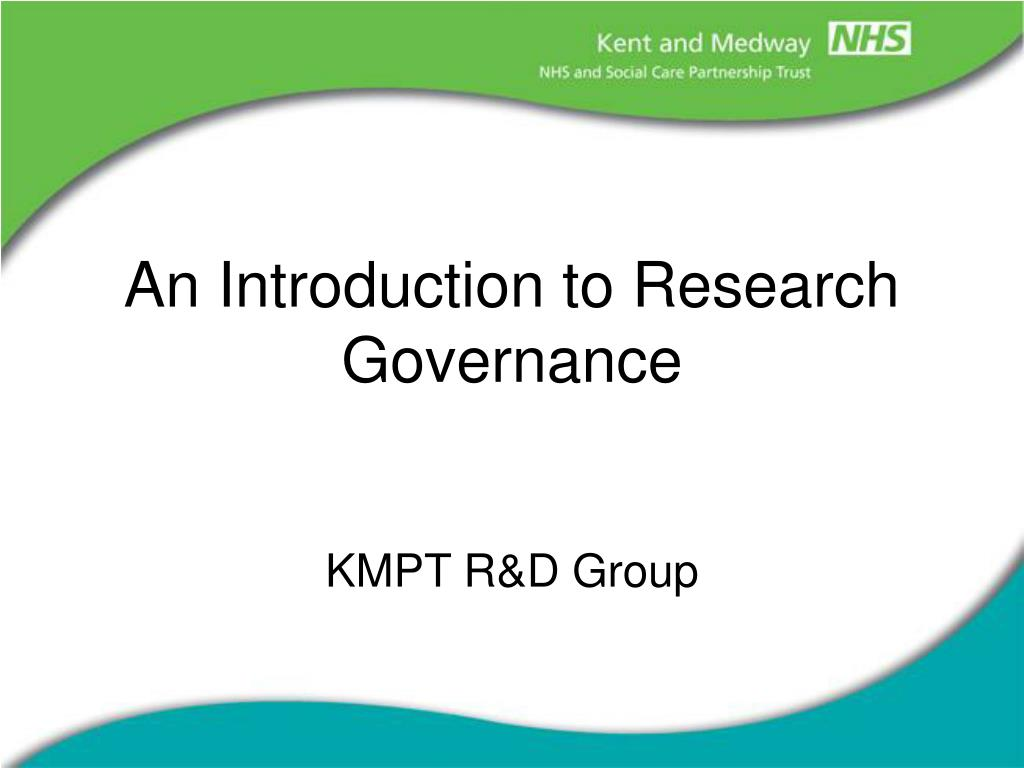 an introduction to research governance l.