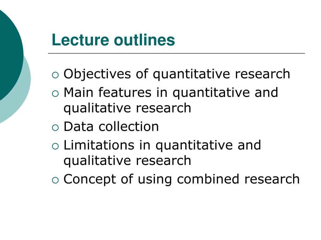 Lecture outlines