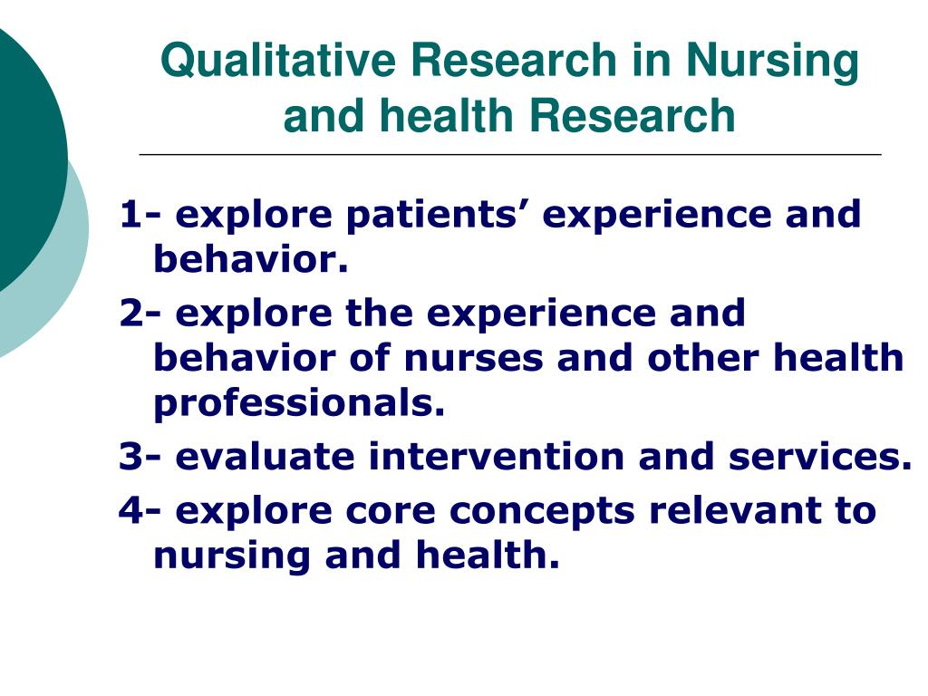 Qualitative Research in Nursing and health Research