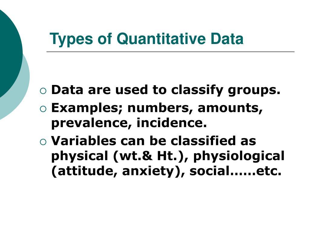 Types of Quantitative Data
