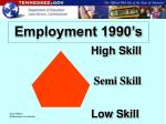 employment 1990 s