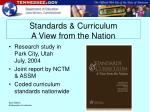 standards curriculum a view from the nation