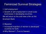 feminized survival strategies