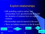 explicit relationships