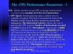 the cpu performance parameters 1