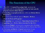 the functions of the cpu