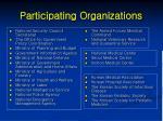 participating organizations