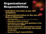 organisational responsibilities
