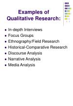 examples of qualitative research