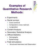 examples of quantitative research methods