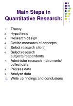 main steps in quantitative research