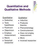 quantitative and qualitative methods
