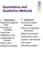 quantitative and qualitative methods7