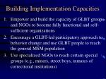 building implementation capacities