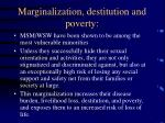 marginalization destitution and poverty