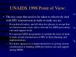 unaids 1998 point of view