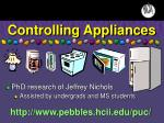 controlling appliances
